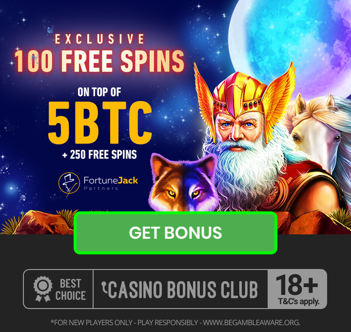Fortune Jack exclusive 5 btc free + 250 free