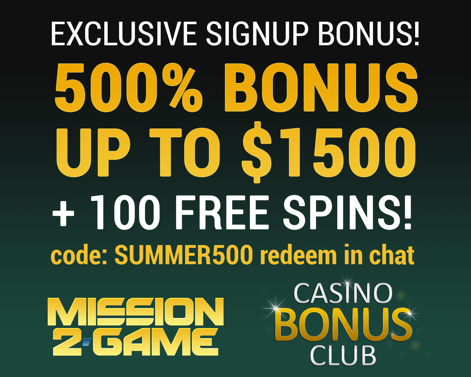 club gold casino bonus code