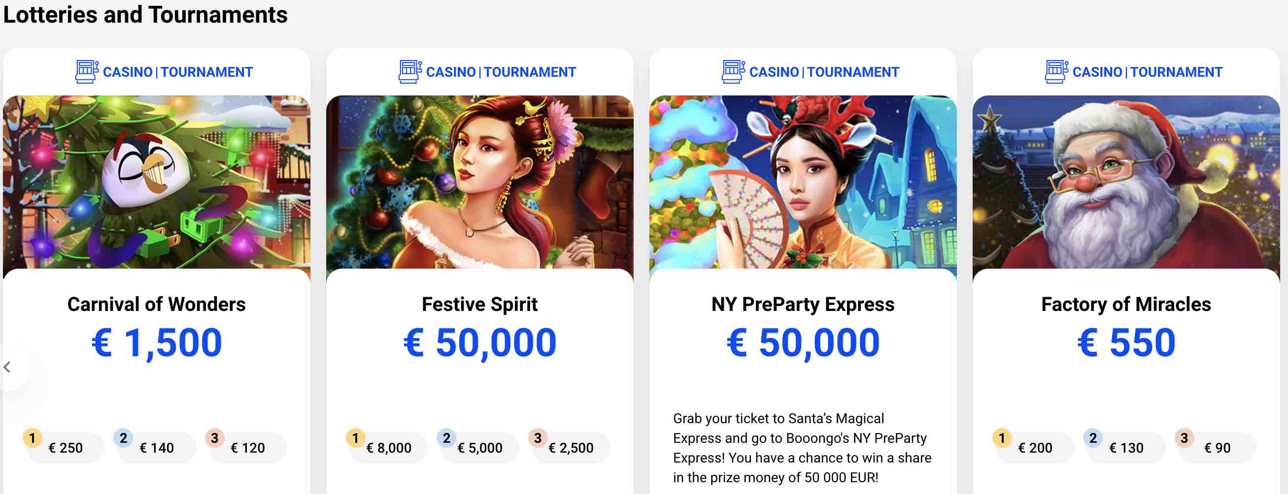 LotteriesTourneys