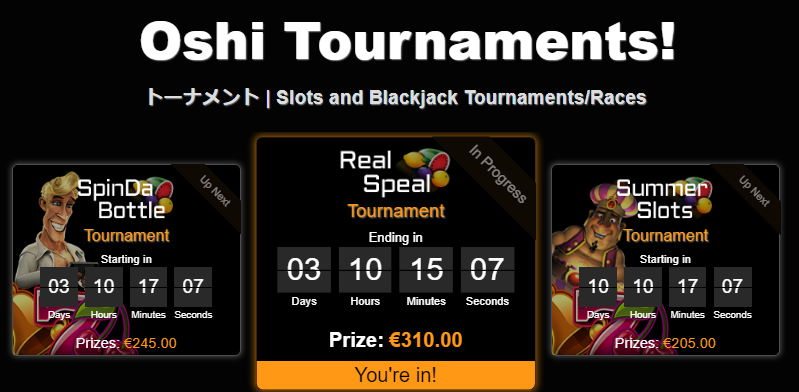 Oshi tournaments