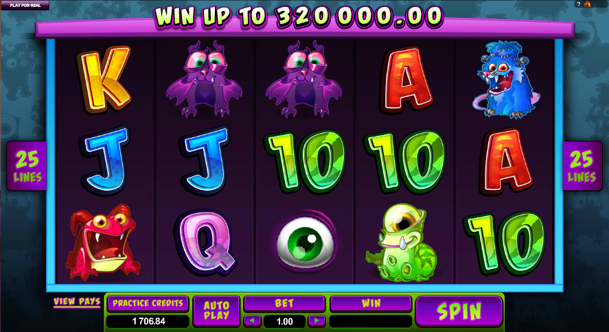 Monster cash slot online